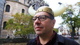 Your light-hearted host, Waldemar Januszczak, dispelling that stupid Viking myth.