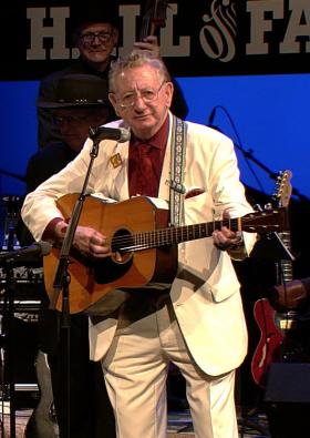 Homer Bailes plays at the WV Music Hall of Fame induction ceremony