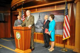 Senator Rockefeller at Washington DC Press Conference