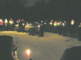 Candlelight Vigil, Betts Park, Warren, PA