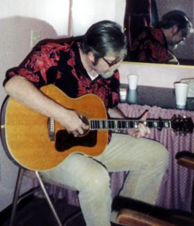 Dave Van Ronk, backstage at Mountain Stage, 1995