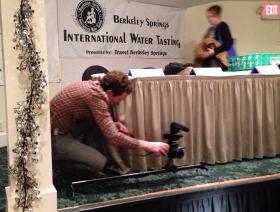 Documentary filmmaker at the Berkeley Springs International Water Tasting