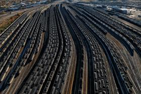Norfolk, Virginia At the Lamberts Point Coal Terminal, railcars loaded with coal line up to fill waiting ships. Some 20 million tons of coal—about 2 percent of U.S. production—move through this terminal each year, most of it from Appalachia.