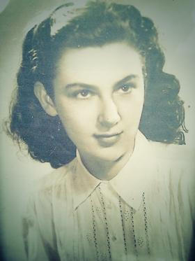 A Young Edith Levy. Holocaust survivor, and Morgantown resident. Born in Vienna, Austria, 1930.