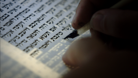 Story of the Jews writing