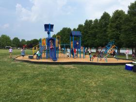 New playground at Harris Riverfront Park.