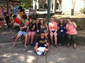 The winning team from the 2014 WV Ambassadors Camp annual scavenger hunt.
