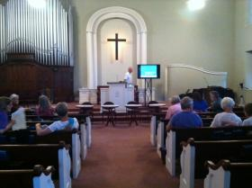 The Shepherdstown Presbyterian Church hosted the EPA Carbon Rules: How Can West Virginia Lead? panel discussion.