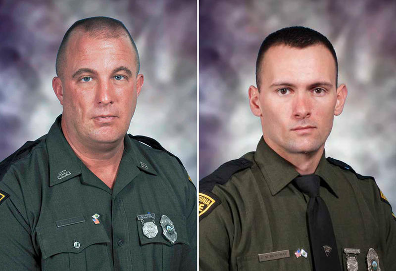 Cpl. Marshall Lee Baily (left) and Trooper Eric Workman were honored at a ceremony Thursday in Roane County. Bailey was killed on August 28, 2012 during a traffic stop. Workman succumbed three days later to injuries stemming from the same incident.