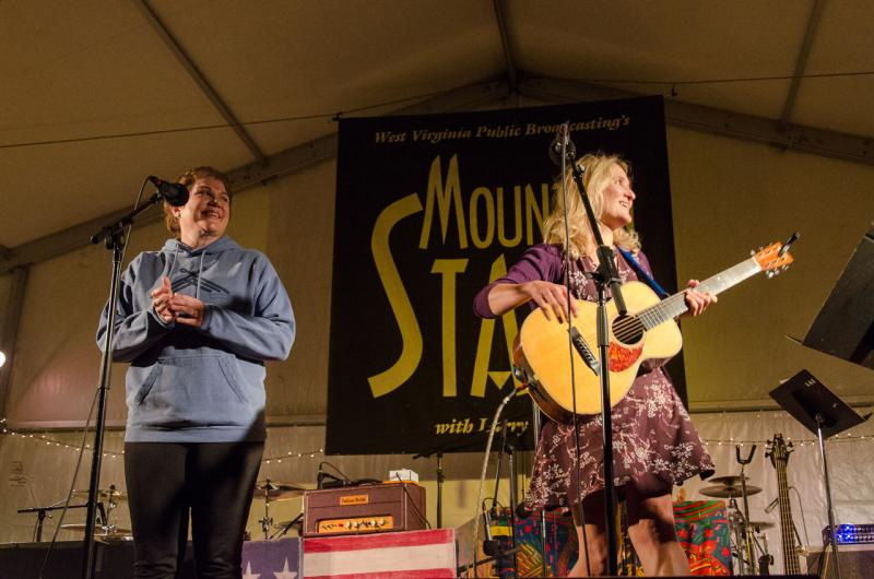 Jill Sobule and Julia Sweeny on Mountain Stage