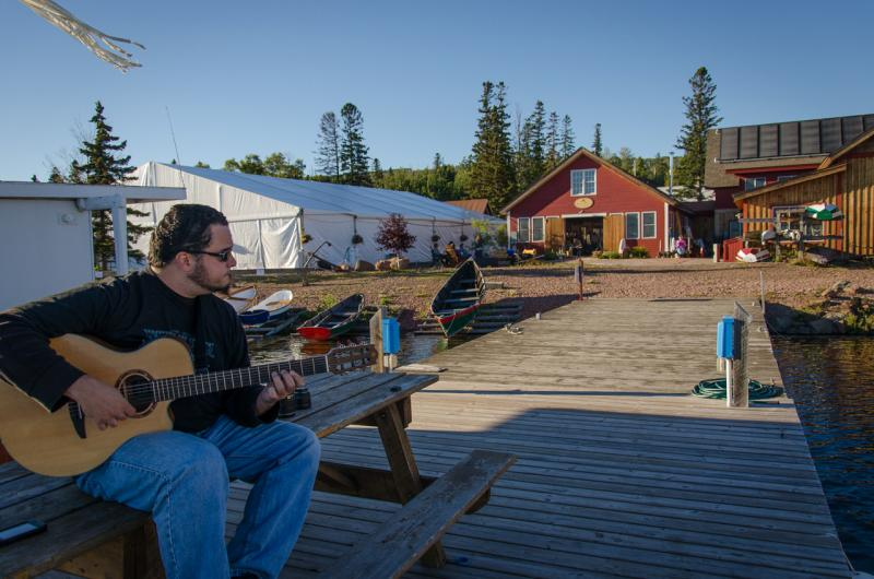 From the dock at North House Folk School with Ryan Kennedy
