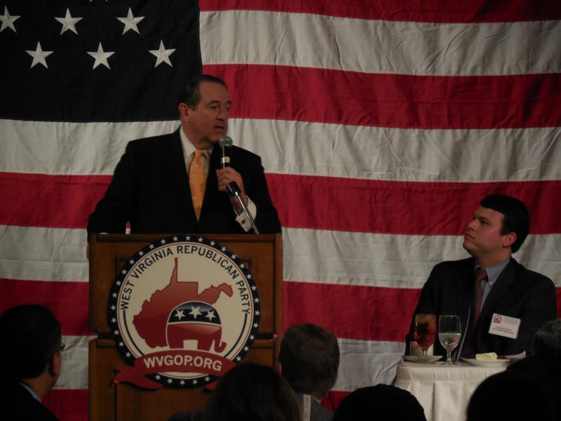 Former Arkansas Governor Mike Huckabee addressed more than 500 gathered at the Marriott in Charleston.