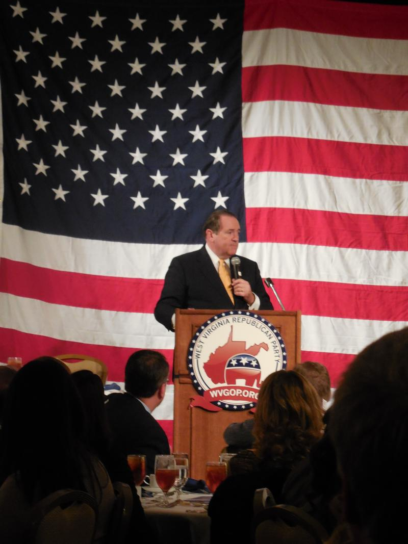 Fox News television host Mike Huckabee spoke of the similarities between West Virginia and his home state of Arkansas, including natural beauty and a long running Democratic strong hold in the political scene.