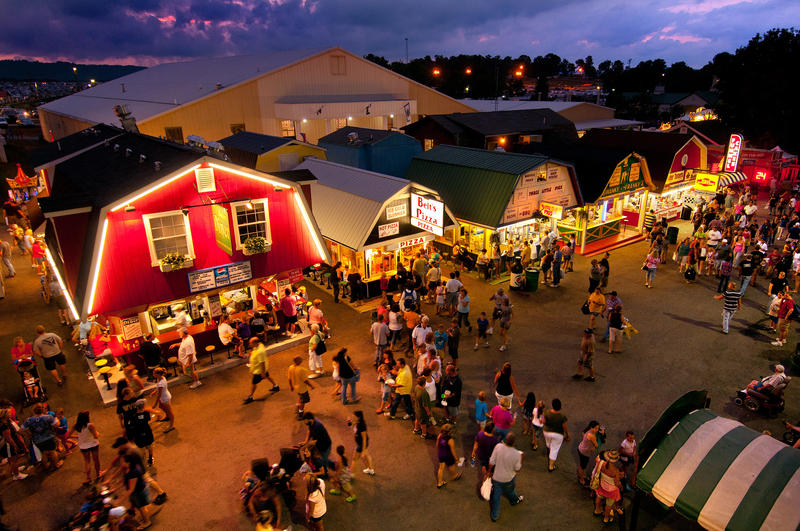 Evening at the State Fair of West Virginia