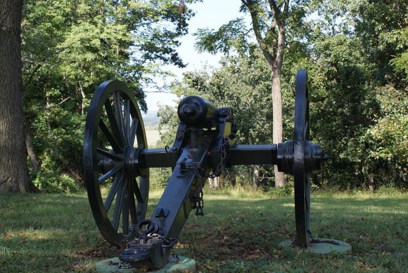Civil War cannon at Harpers Ferry