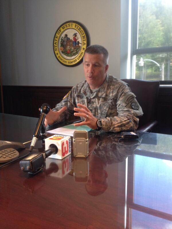 Adjutant General James Hoyer of the West Virginia National Guard