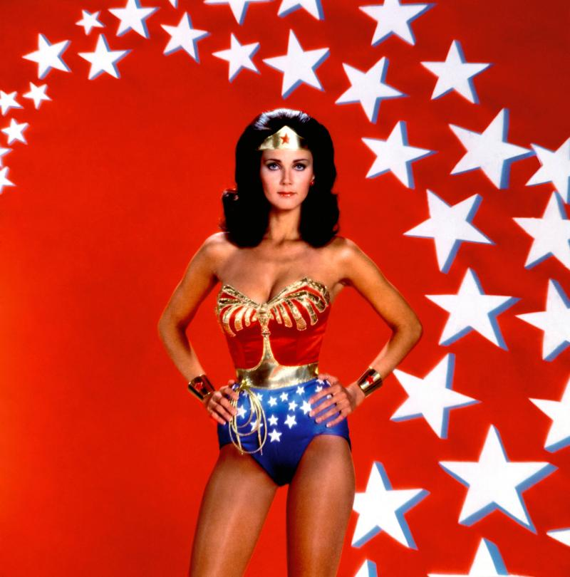 Lynda Carter as Wonder Woman in the famous poster