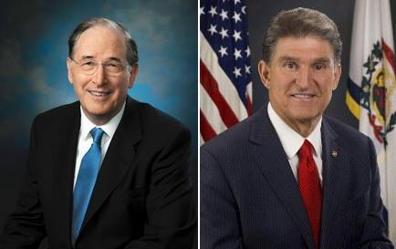 Senator Jay Rockefeller (left) and Senator Joe Manchin (right)