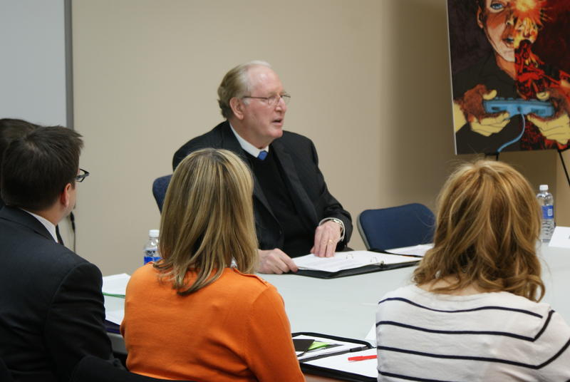 Sen. Jay Rockefeller participated in a Martinsburg panel discussion about video games