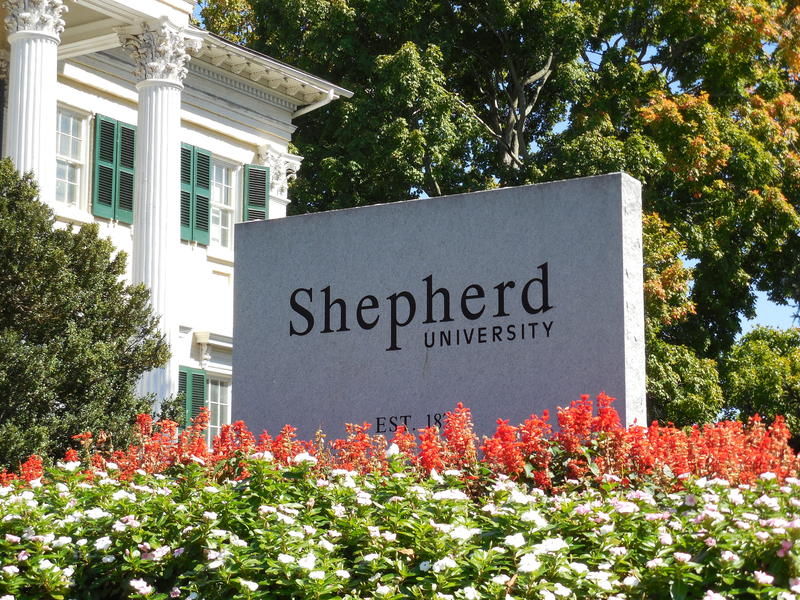Shepherd University Sign, McMurran Hall