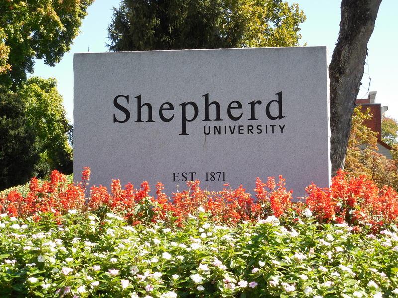 Shepherd University Sign
