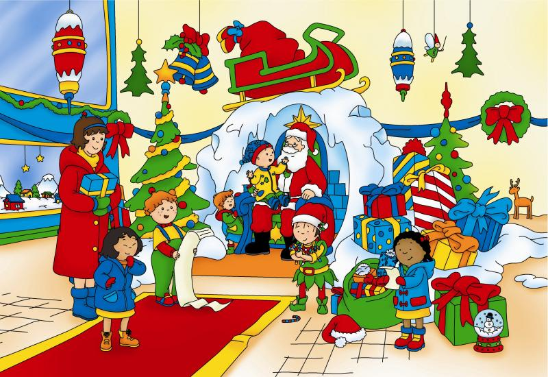 Caillou has a busy time getting ready for Santa! Watch Caillou's Christmas on Dec. 23 at 1:30 p.m. on WV PBS