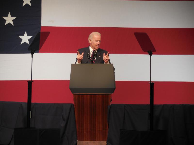 Vice President Joe Biden served as the keynote speaker at the Jefferson-Jackson Dinner in Charleston.