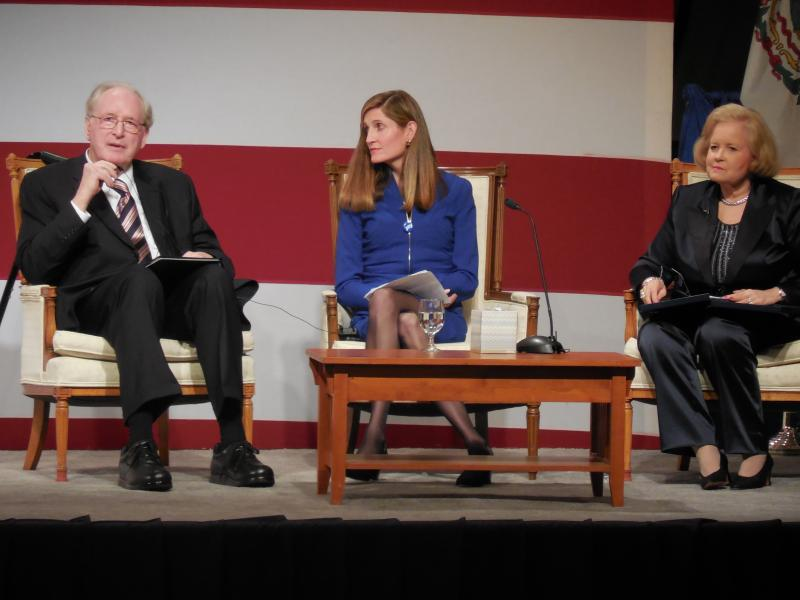 Senator Jay Rockefeller discusses his career with daughter Valerie and wife Sharon.