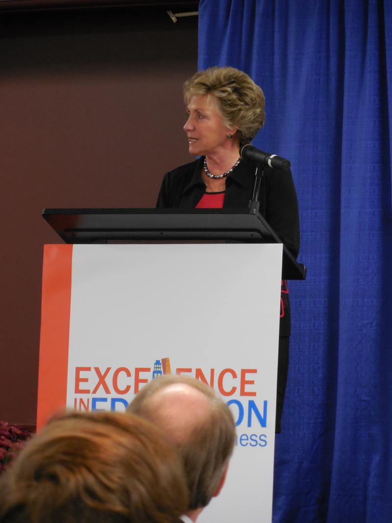 State Board of Education President Gayle Manchin.