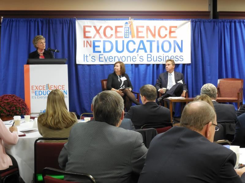 State Board of Education President Gayle Manchin discussed early literacy with the Foundation for Excellence in Education's Cari Miller and moderator Ralph Baxter.