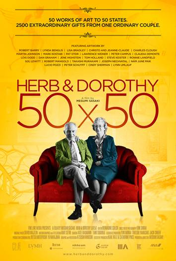 Poster of a follow-up documentary made about Herb and Dorothy Vogol.