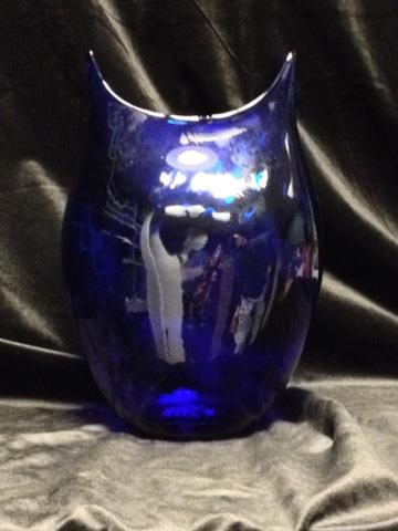 This cobalt twist vase was made exclusively for West Virginia Public Broadcasting. It is one of the thank you gifts for Blenko Glass: Behind the Scenes