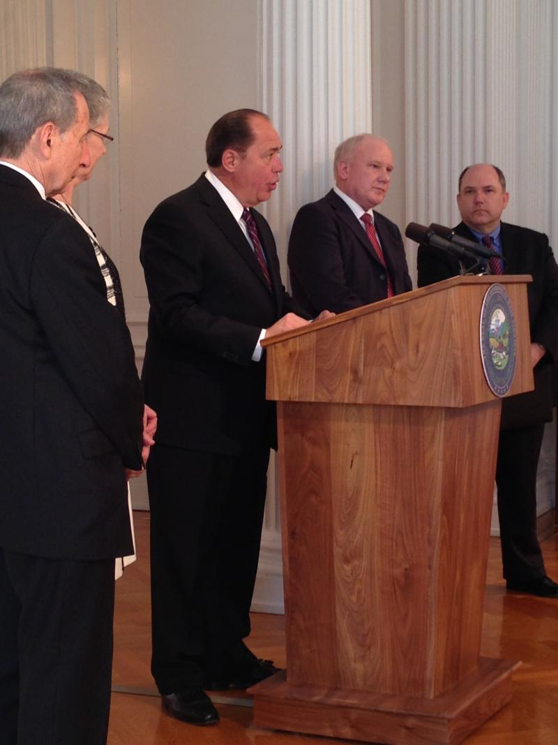 Gov. Tomblin made the donation announcement at a press conference at the Capitol Wednesday.