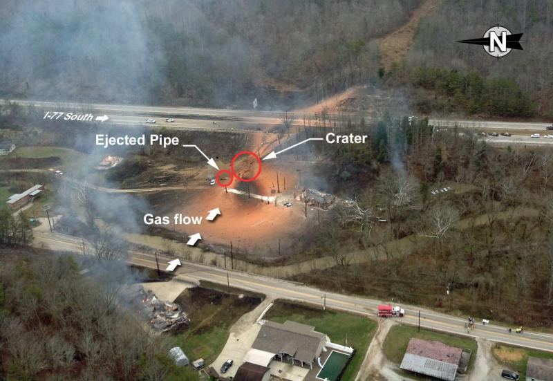 Natural Gas Pipeline Explosion West Virginia