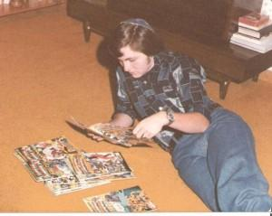 A young Victor Urecki is a comic book fan