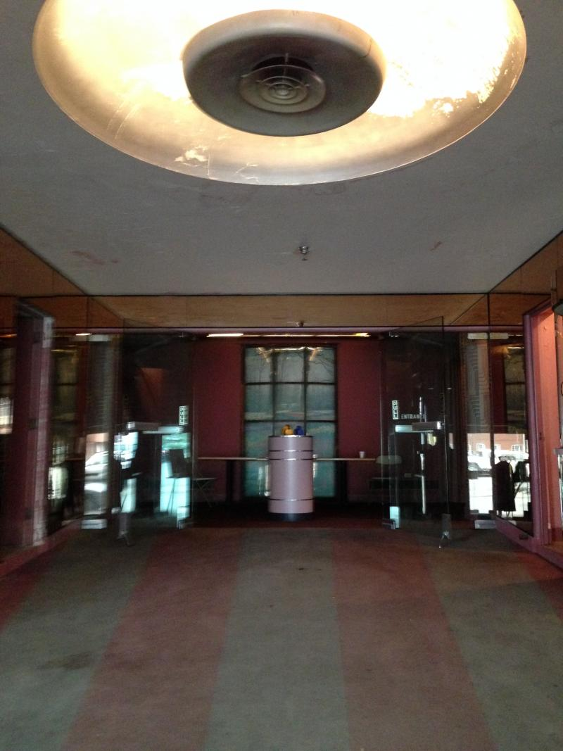 The theater's entrance.