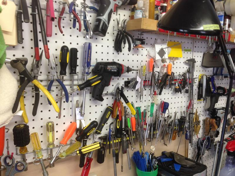 Space is limited, but every tool must be at the ready.