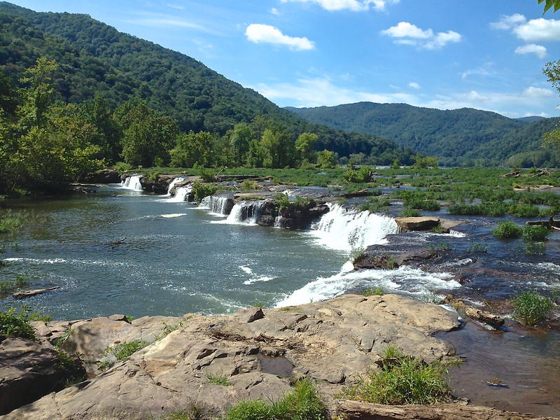 Sandstone Falls along the New River