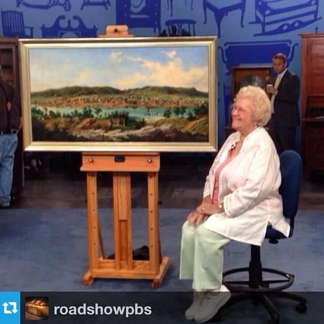 Helen brought in an original Edward Beyer landscape painting of Charleston valued at $250,000