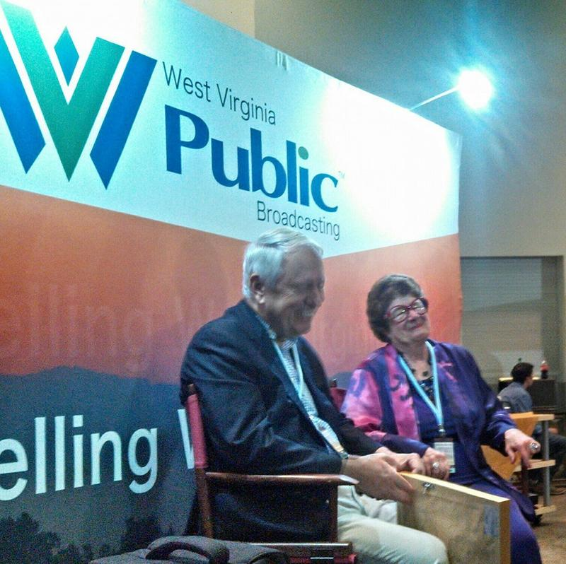 Judge Joe Bob Goodwin and Secretary Kay Goodwin having fun at our booth
