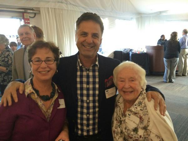 Antiques Roadshow host Mark Walberg, Andrinne Worthy and her mother at our Roadshow preview event