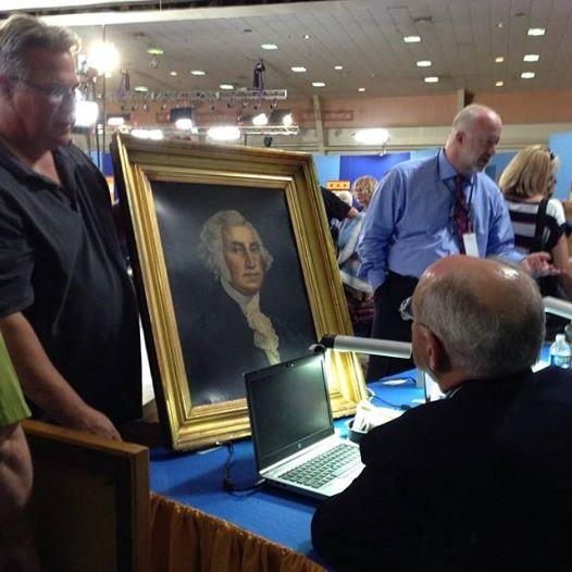 George Washington painting at Antiques Roadshow Charleston