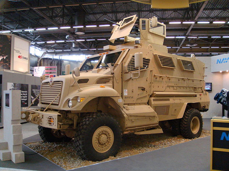 A photo of a Mine Resistant, Ambush Protected vehicle, similar to the one McDowell Co. law enforcement acquired through the 1033 program from the Department of Defense's Law Enforcement Support Office.