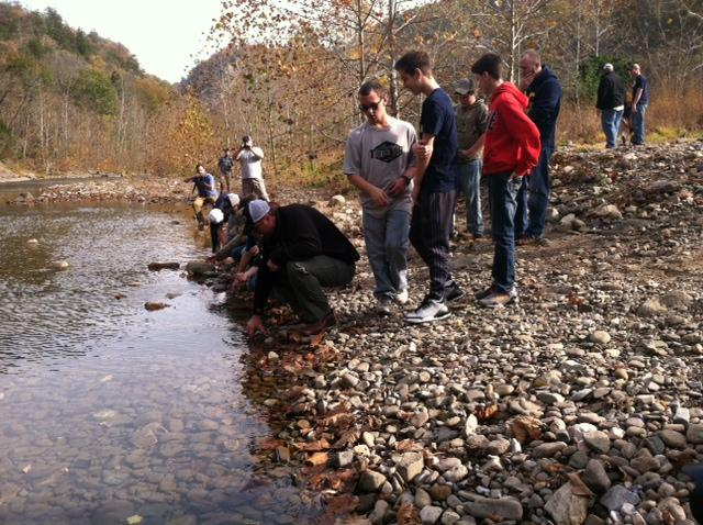 W va native curtis fleming teaches school kids about fly for Fly fishing west virginia