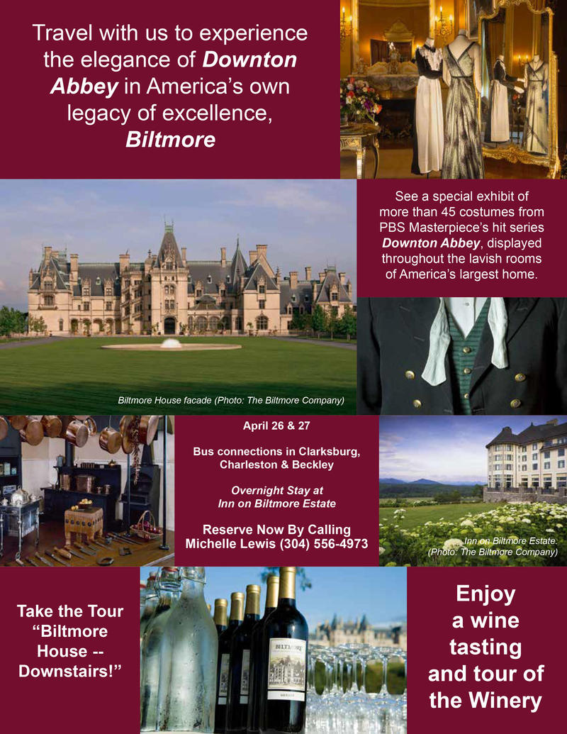 Travel with us to experience the elegance of Downton Abbey in America's own legacy of excellence, Biltmore