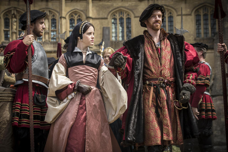 Claire Foy as Anne Boleyn and Damian Lewis as King Henry VIII.