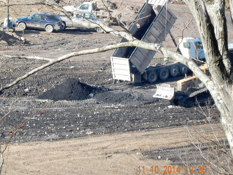 Drill cuttings dumped at West Virginia landfill.