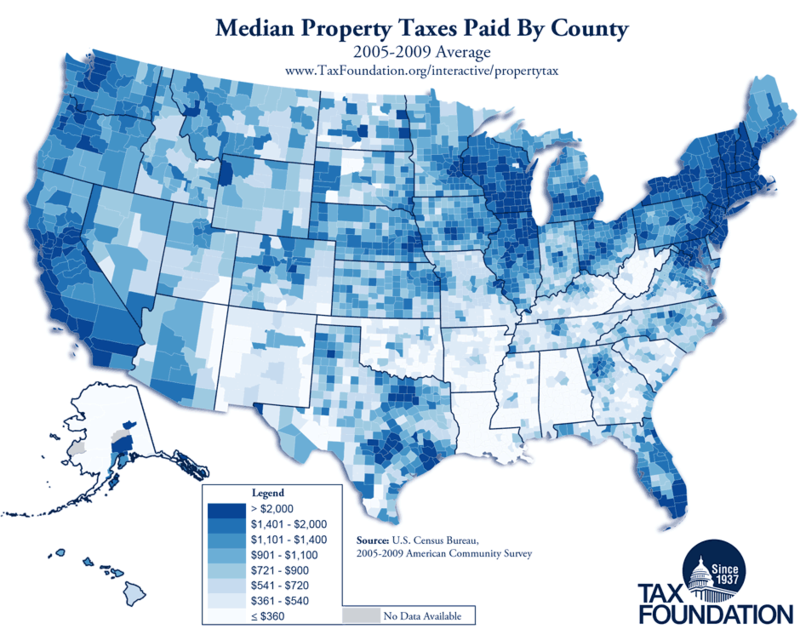 Illinois County With Lowest Property Tax
