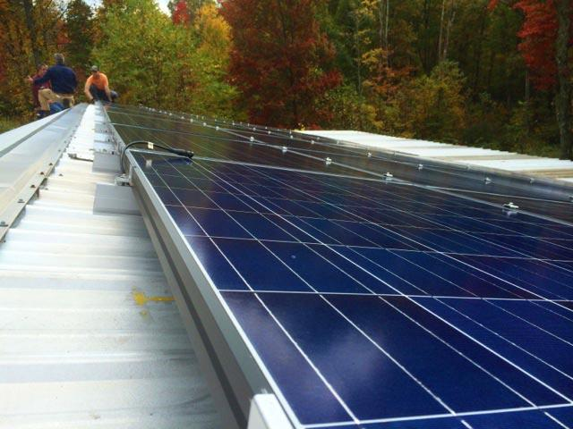 Solar panels arriving in Fayette County.