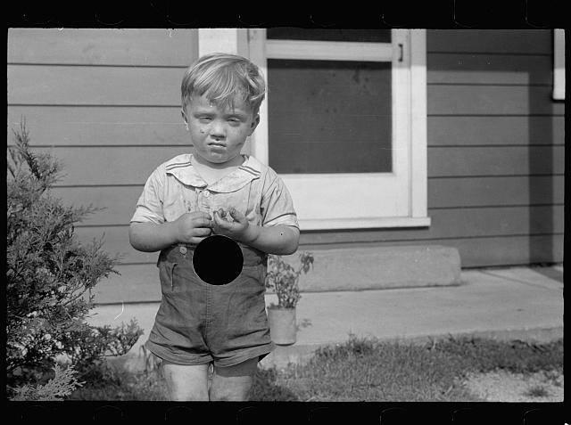 Child at the Tygart Valley Homestead during the 1930s
